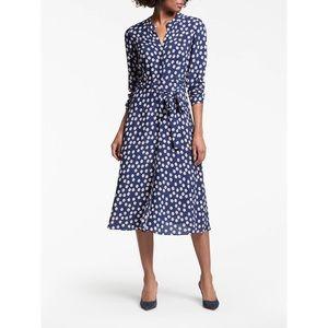 🆕 BODEN navy floral JESSICA button viscose dress
